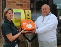 defibrillator from Harrow Wood